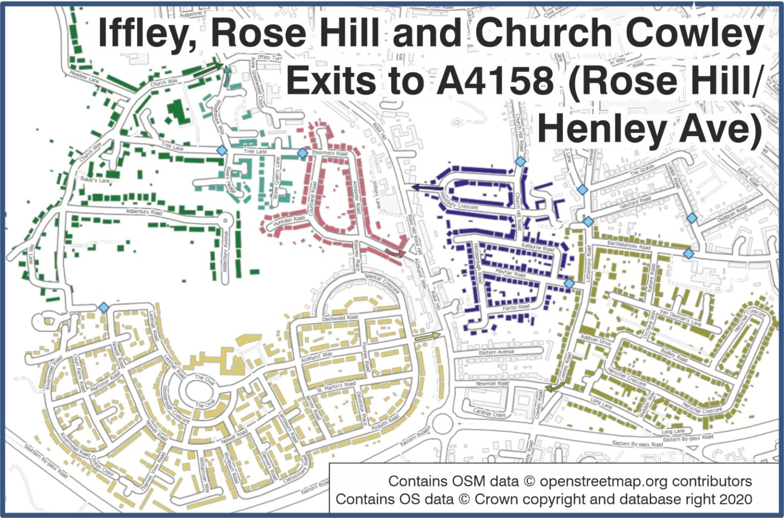 Catchment area for Westbury Cr junction onto Rose Hill